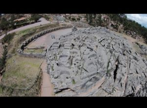 Quadcopter Flight Over Megalithic Qenqo Above Cusco In Peru
