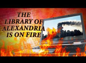 The Library of Alexandria is on Fire