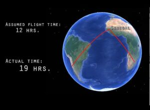 FLAT EARTH PROOF 7 – DOWN SOUTH (FLIGHT PATHS AND DISTANCES) – Zetetic Flat Earth