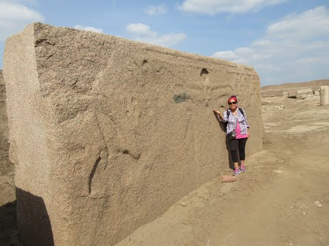 Surreal Megalithic Site Of Tanis In The Nile Delta Of Egypt