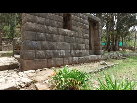 Inca And Older Megalithic Stone Works At San Cristobal In Cusco Peru