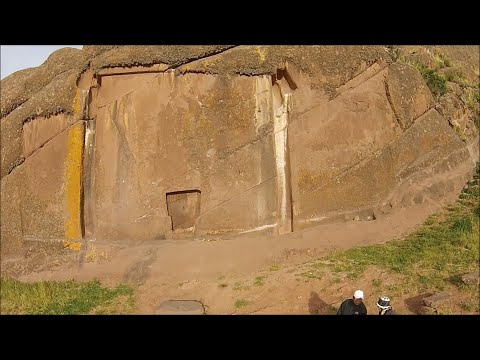 Mysterious Ancient Portal Of Amaru Muru Near Lake Titicaca In Peru