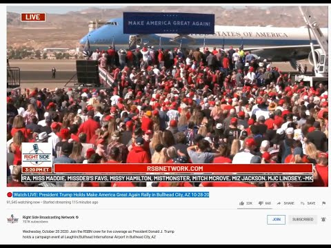 RALLY TRUMP – WATCH LIVE NOW IN ARIZONA