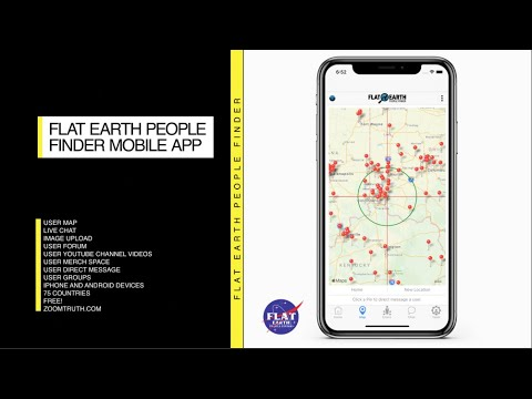 Flat Earth People Finder Mobile App Promo. iPhone available now. #flatEarth #flatearthpeoplefinder