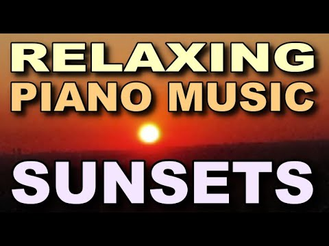 Two sunsets with piano music