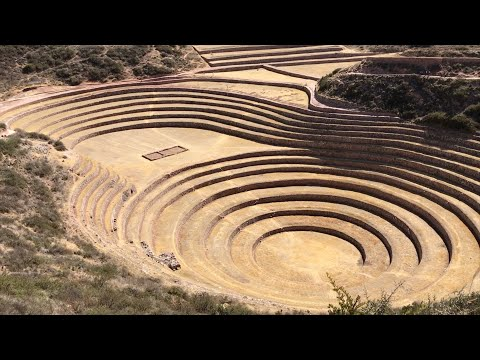 The Massive Inca Complexes Of Pisaq And Moray In The Highlands Of Peru