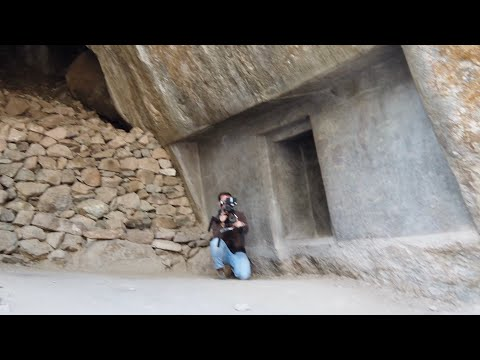 Documentary Crew At A Megalithic Cave In The Sacred Valley Of Peru