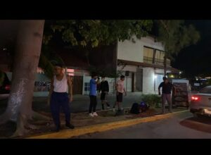 Street performance in Caribbean Puerto Morelos (the Pearl of the Mayan Riviera)