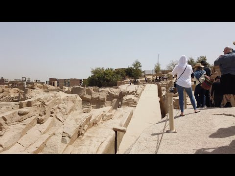 the Astonishing Ancient Megalithic Granite Quarry At Aswan In Southern Egypt