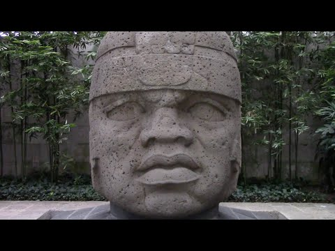 Ancient Stone Heads And Elongated Skulls Of Mexico In The Xalapa Museum