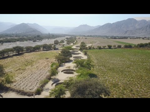 Quadcopter View Of An Ancient Circular Well System In Nazca Peru
